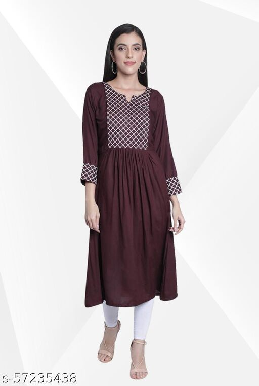 Anarkali/Umbrella Cut/Ghera For Women kurti