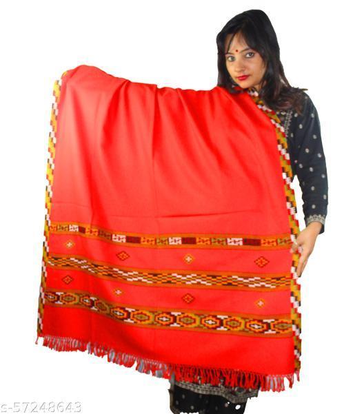 ARUNA KULLU HANDLOOM HANDCRAFTED TRIPLE BORDER PURE WOOL SHAWL FOR WOMEN AND GIRLS