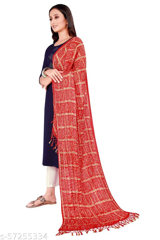 Women's Bandhni Print Multicolor dupattas