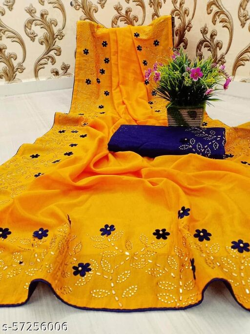new paper silk saree with havy daimond work with havy blouse piace