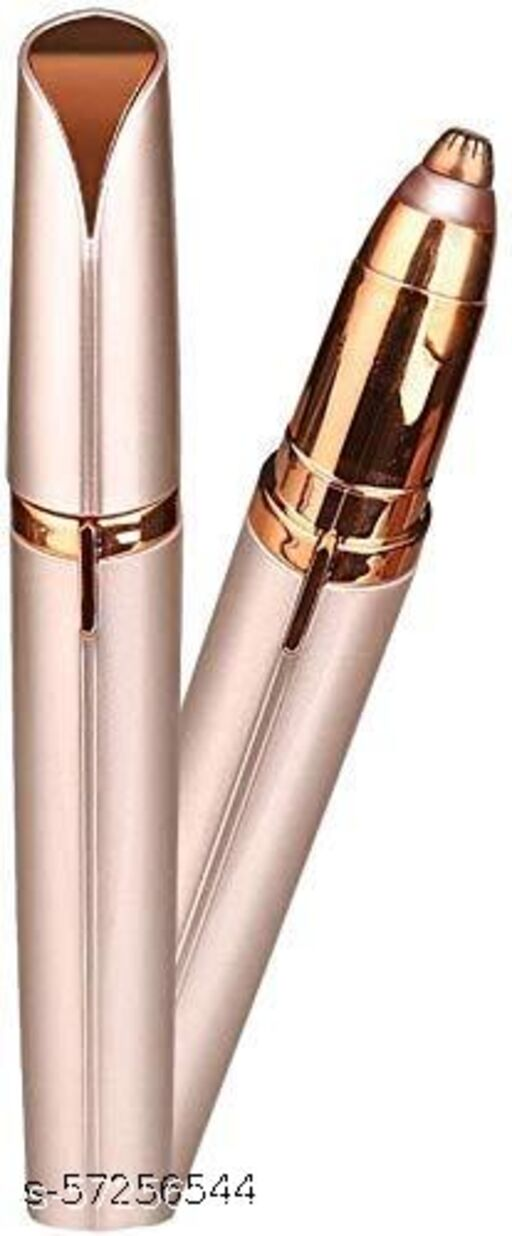 Painless flawless touch Electric Eyebrow Trimmer Facial Hair Remover (Rose Gold)