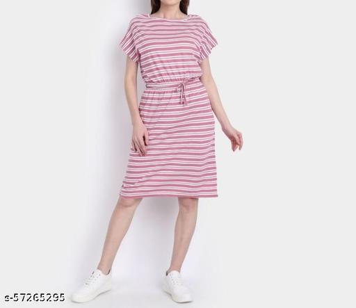 Printed Ruffle Short Length Dress