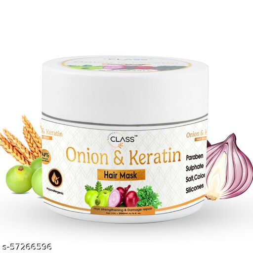 Class Naturals Onion & Keratin Smoothening Hair Mask for Hair Growth & Hair Fall Control   Hair Mask for Dry & Frizzy Hair -200 ml