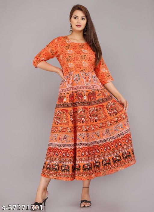 City Hub Khadi Printed Sleeves atteched Jaipuri Kurti