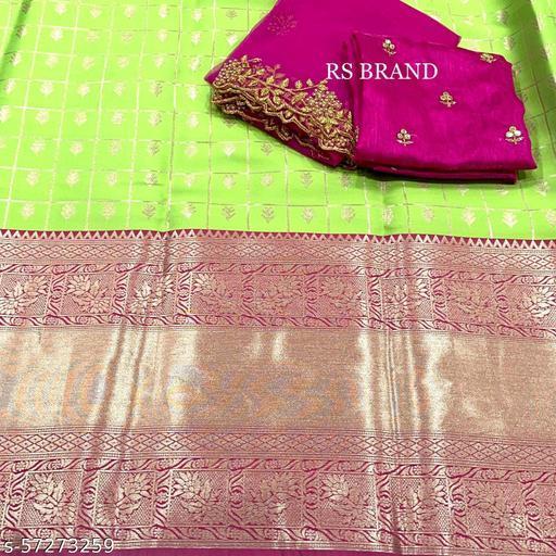 ROSECLOUD Kanjiveram Silk Zari lehanga with blouse along with cutwork Duppta HALF SAREE