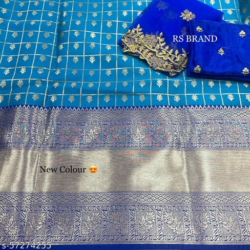 ROSEBUDS Kanjiveram Silk Zari lehanga with blouse along with cutwork Duppta HALF SAREE