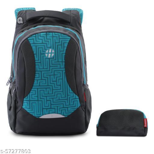 Maze  Dark Grey Teal Backpack