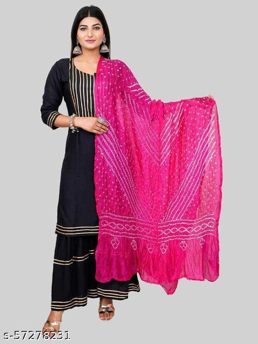 Art Silk Women Bandhani Dupatta