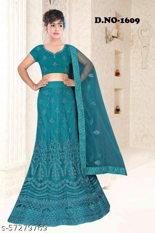Rajkumari  Designer Net Firoji Color Lahenga Choli  With Blouse Duppta