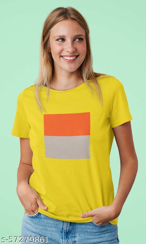 Dual Colour Women's Round Neck T-Shirt