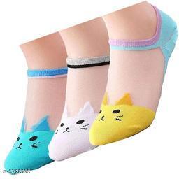 Beautiful Women's Pack of 3 Multicolor Socks