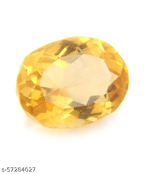 5.20 Carat Natural Certified Citrine Sunehla Rashi Loose Gemstone