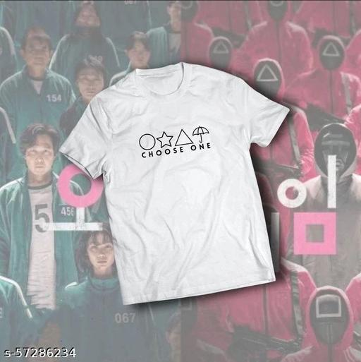 Trending Squid Game Design Printed Cotton Unisex T-Shirt