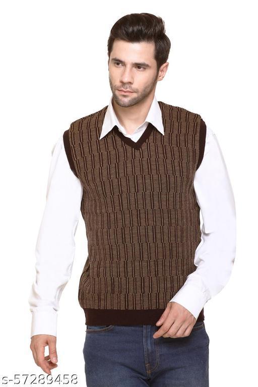 aarbee Reversible Sleeveless Woollen Sweater For Men