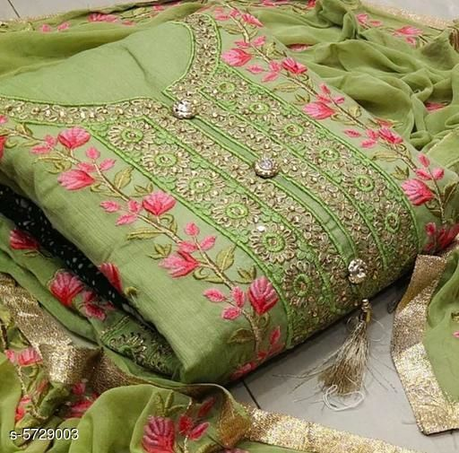 Attractive  Women's Unstitched Dress Material