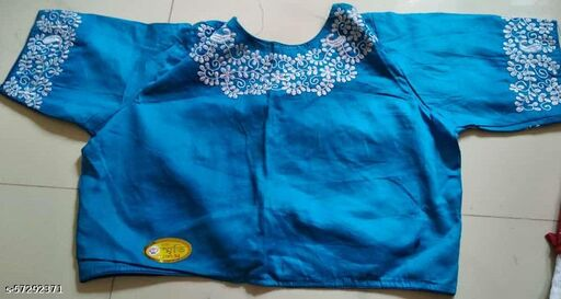Boatneck embroidery blouse