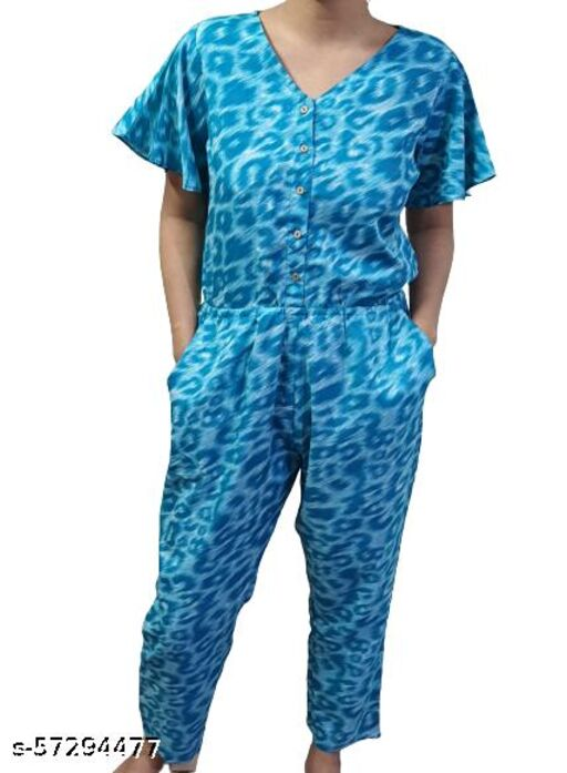HAYY COLLECTION'S TRENDY PRINTED JUMPSUIT