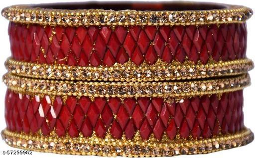 SB SHIVANG BRAND RED COLOR BEAUTIFUL KADA SET OF 2