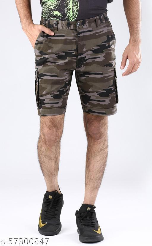 Camouflage Bermuda shorts- 100% Cotton