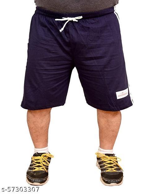 Man's I Boys Plain Relaxed Fit Cotton/Hosiery Barmuda /Shorts/Nikar- pack of 2
