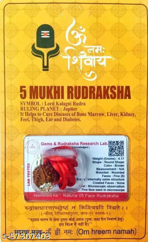 Premium Quality 5 Mukhi Rudraksha Five Faced Rudraksh
