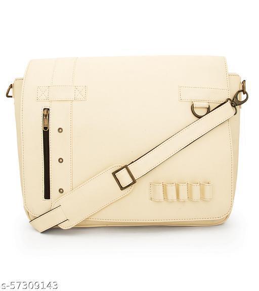 Enew -  Leatherite Tote Bags (Off-White)