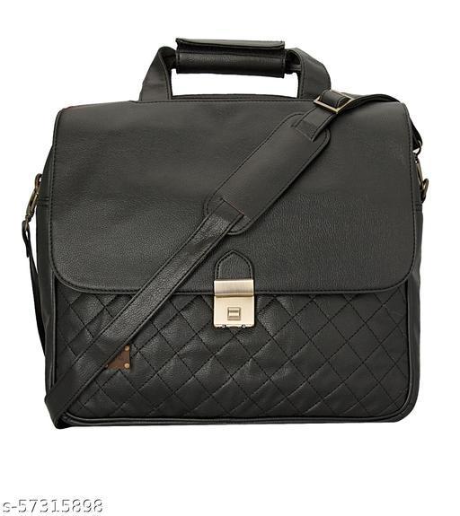 Enew - Leatherite Tote Bags (Black)