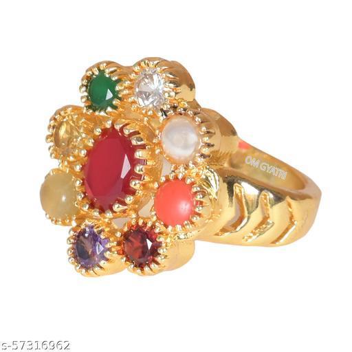 Natural Navratan Gemstone Ring With Lab Certified For Women & Girl