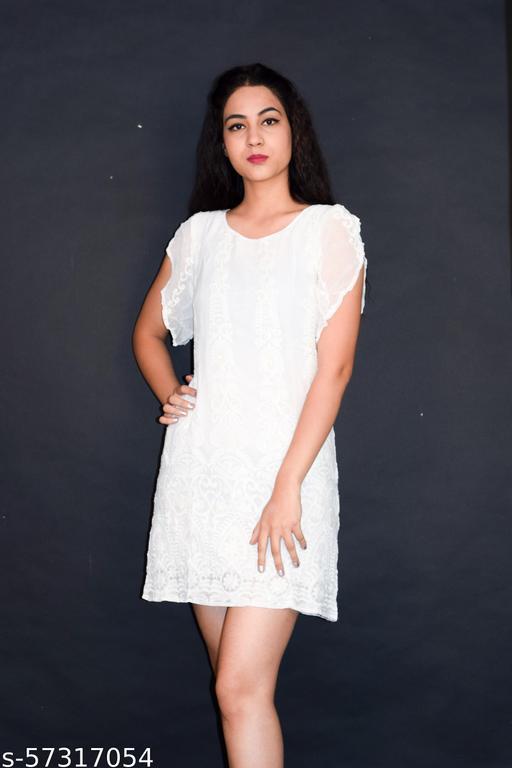 cotton short printed long dress for girls
