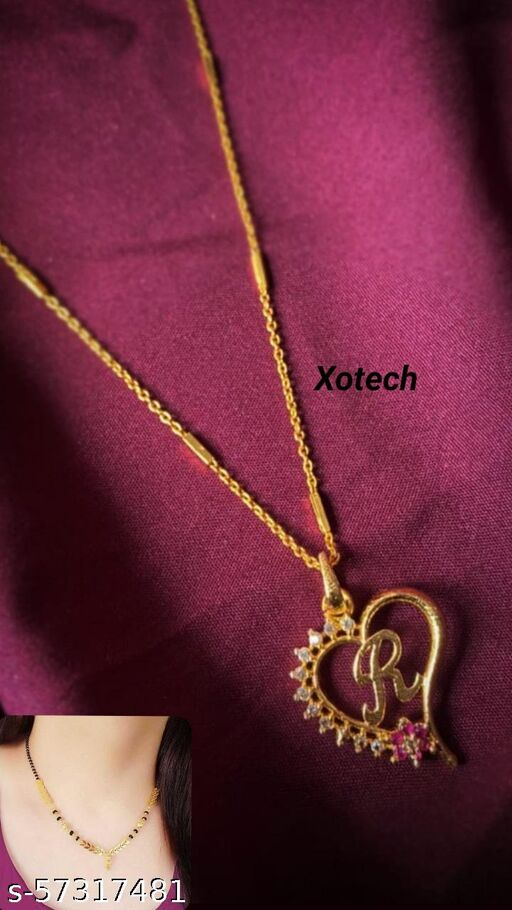 R DIL PENDANT CHAIN WITH PAAN DOKIA MANGALSUTRA