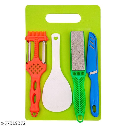 K.D. ENTERPRISE Plastic Chopping Board with and Scissor And Wine Stainless Steel And Plastic Kitchen item Multipurpose cutting vegetables And fruits Cutting Combo For knife cutting board set For Kitchen