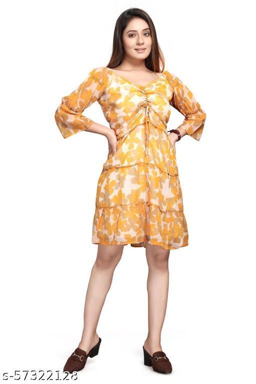 western Georgette Dresses