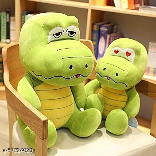 Soft Crocodile Cuddly Plush Stuffed Soft Toy   Cartoon Fluffy Toy for Kids Multicolor (35 cm)