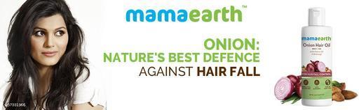 Professional Mamaearth Onion Hair Oil for Hair Fall Control