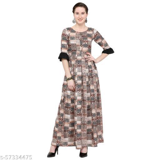 Archi _839 Multicolor Rayon Printed dress