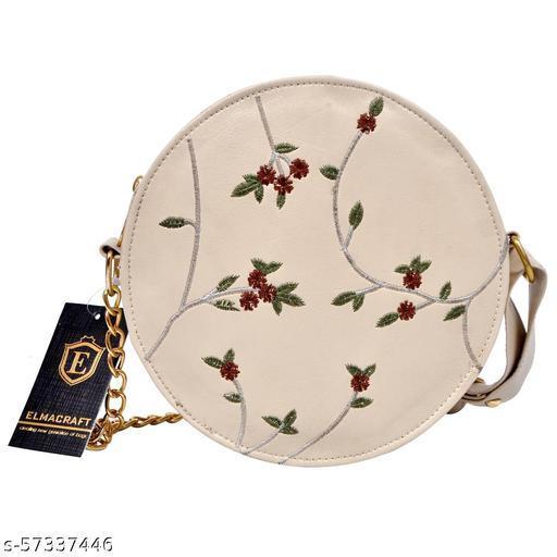 women girls embroided sling bag