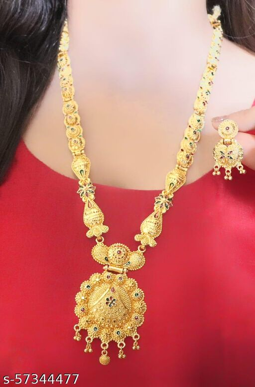 JEWELRY SET GOLD PLATED WITH  EARRINGS