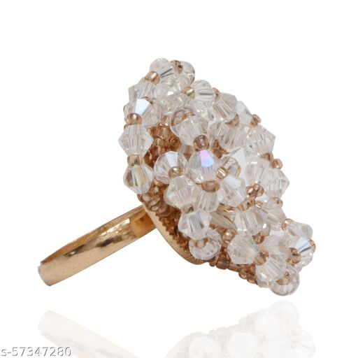 Crystal Beads Rings for women and girls