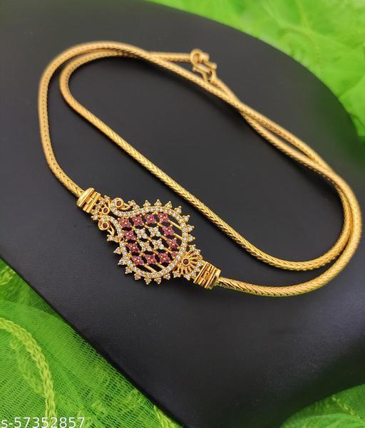Premium Quality Micro Gold Plated Mogappu Chain