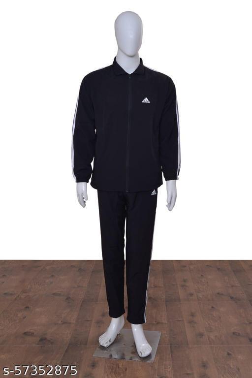 Adidas Striped Men Track Suit (Jaket & Trackpaint)