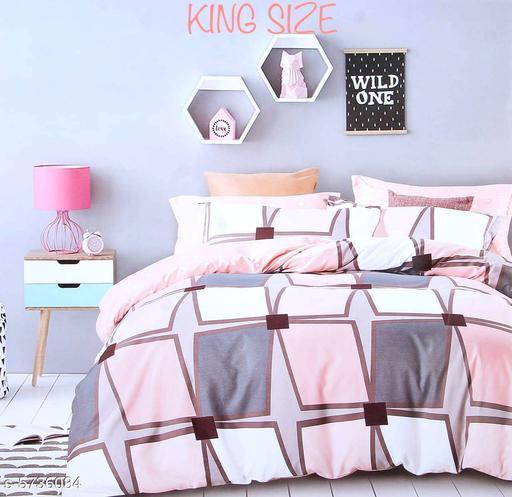Trendy Microfiber 108 X 108 King Double Bedsheets