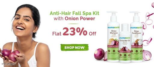 Professional Mamaearth Onion Hair Shampoo&Conditioner With Hair Oil