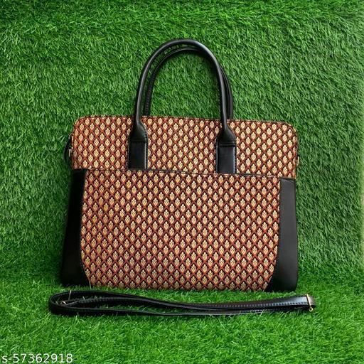 Fancy Block printed laptop bag
