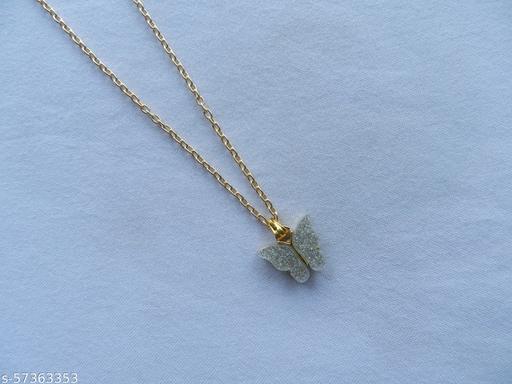 Glitter Butterfly Minimal Chain