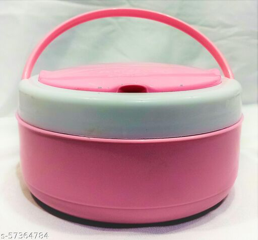 PRINCEWARE Insulated 1 Containers Lunch Box (520 ml) Pink Color