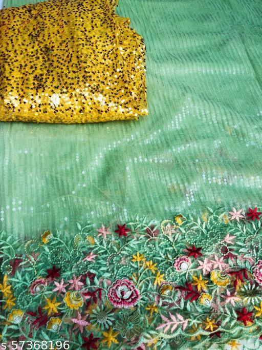 Fashion Forward ! Latest Design Saree ! Sequence with Thread Work ! Net Fabric ! Trendy Saree