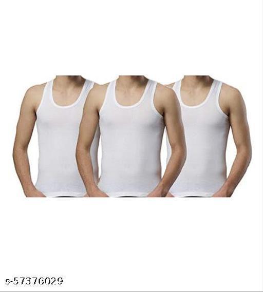 Premium White Sleeveless Men's Vest Cotton Hosiery