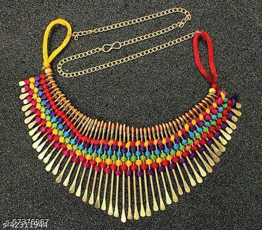 Handicraft Trendy designer tread work necklace