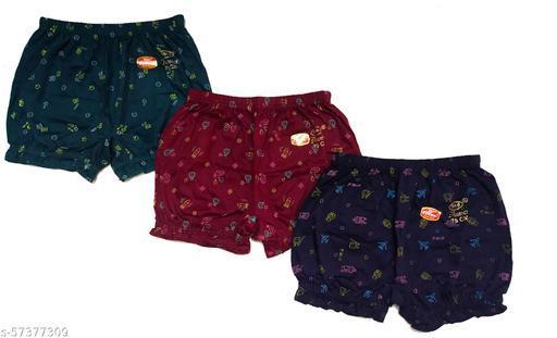 Women's Cotton Hosiery Bloomer Dark Color Print Panties Combo (Multicolor) Pack of 3