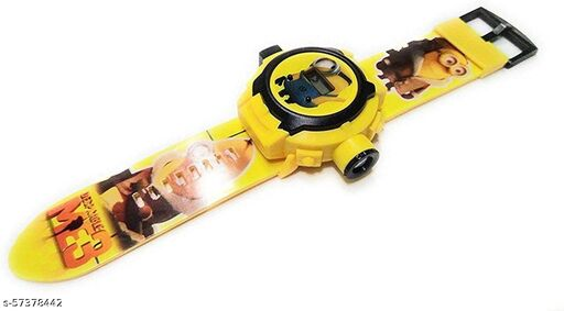 Minions 24-Images Digital Display Projector Cartoon Watch for Kids Set of - 1